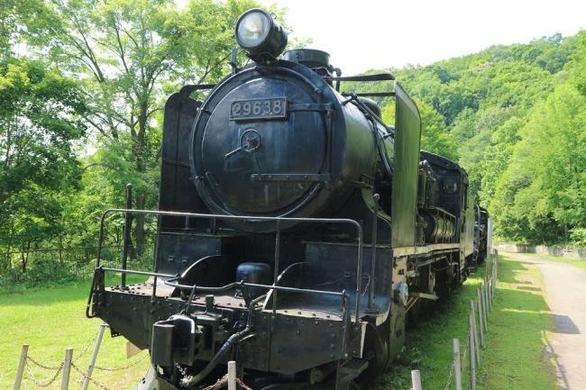 神居古潭 機関車